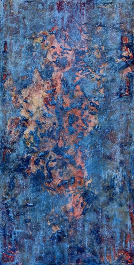 2014 Januar, 43x83, Acryl-Öl-Wachs-Mischtechnik mit Textilien