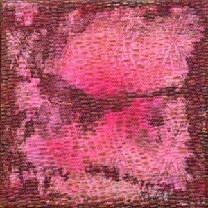 2014 kl 3, 32x32cm Textilien-Mischtechnik