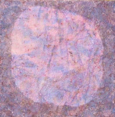 2014 März, 60c60cm, Mischtechnik mit Textilien
